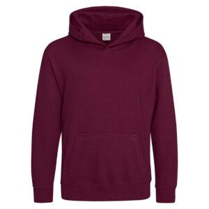 kids plain burgundy hoodie